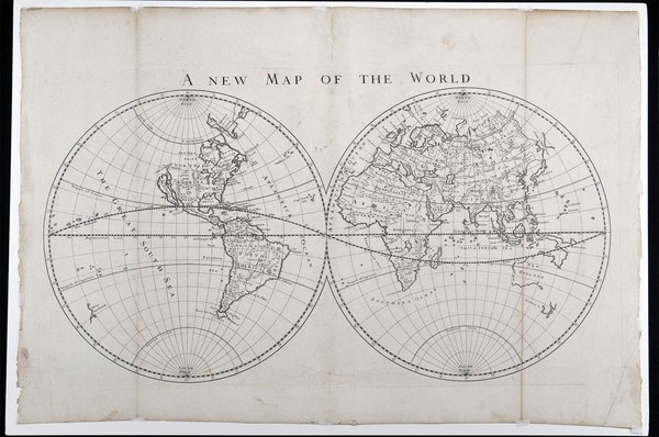 Antique MapArt : 1700 Anonymous \'A New Map of the World\' - Antique ...