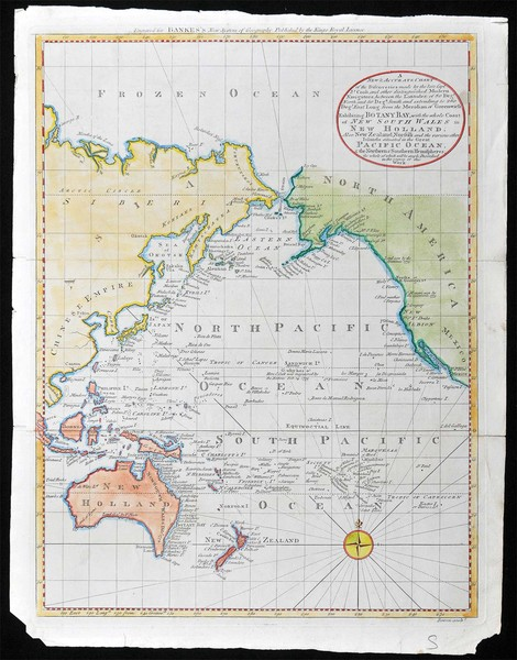 Antique mapart 1790 e bowen a new accurate chart of t 1790 a new accurate chart of the discoveries made by the late capt js cook gumiabroncs Gallery