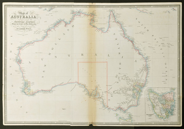 Antique mapart 1838 j wyld map of australia compiled 1838 map of australia compiled from the nautical surveys made by order of the admiralty and other authentic documents by james wyld geographer to the gumiabroncs Image collections
