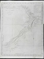 Chart of New Zealand Explored in 1769 and 1770 by Lieut. J. Cook Commander of His Majesty's Bark Endeavour