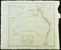 A New Chart of New Holland on which are delineated New South Wales, and a plan of Botany Bay